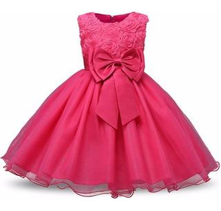 Vestido Fiesta De Promocion Color Chicle En Mercado Libre