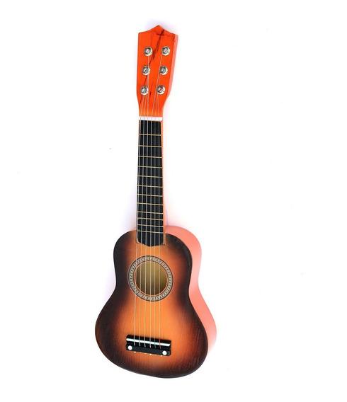 Guitarra Madera Española Cuerdas De Metal Infantil Ml 1034