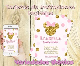 Modelos De Tarjetas De Invitacion Minnie Mouse Disfraces Y