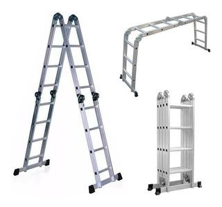 Escalera Andamio Aluminio 4.4mts 16 Escalones Premium