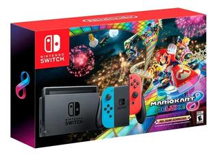 Nintendo Switch 2019 + Mario Kart Deluce 8 + Vidrio Easybuy