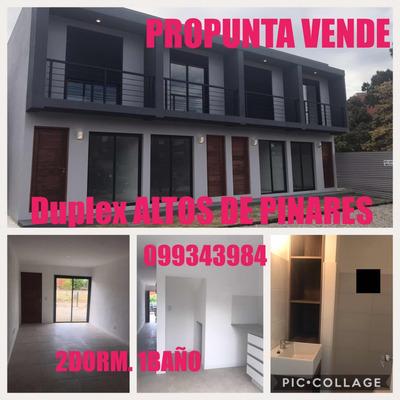 Altos De Pinares. Duplex 2 Dorm. Excelente Construcción.