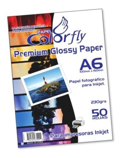 Papel Foto Brilloso Glosy A6 Paquete 50 Hojas
