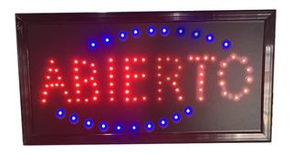 Carteles Led Luminosos Abierto 220 V Sertel Shop