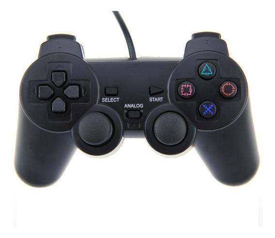 Joystick Ps2 Play 2 Cableado Vibración De Calidad Clic Shop