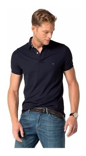 Remera Tommy Hilfiger Azul Oscuro Talle L/g