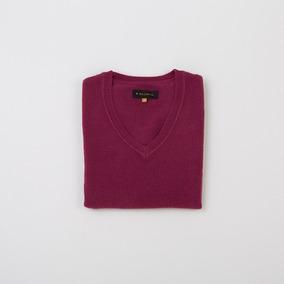 Sweater Dama Básico Escote En V Geranio