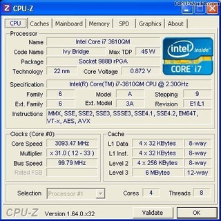 Micro Procesador Intel Core I7 3610qm Socket G2 P Notebook