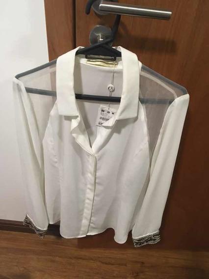 Divina Camisa De Carmen Steffens Nueva!! Con Etiqueta