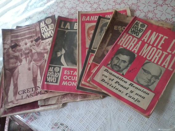 Antiguas Revistas Al Rojo Vivo Policial Años 60 Precio X C/u