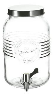 Dispensador 3l Vidrio Con Tapa Rosca Metal