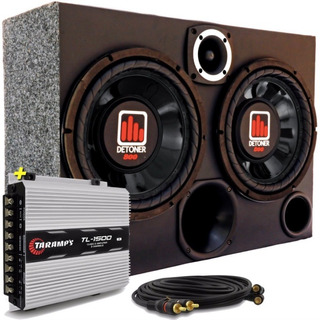 Caja De Audio Auto Subwoofer Sellada + Potencia Taramps
