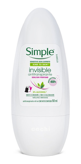Antitranspirante Simple Roll On Invisible 50ml