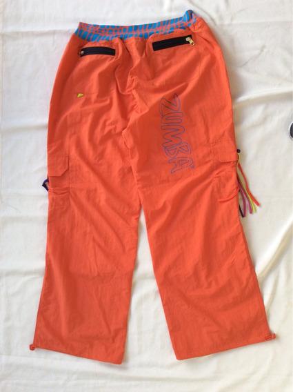 Zumba Pantalón Náutico Mujer Naranja Xl Deportivo Danza Usa