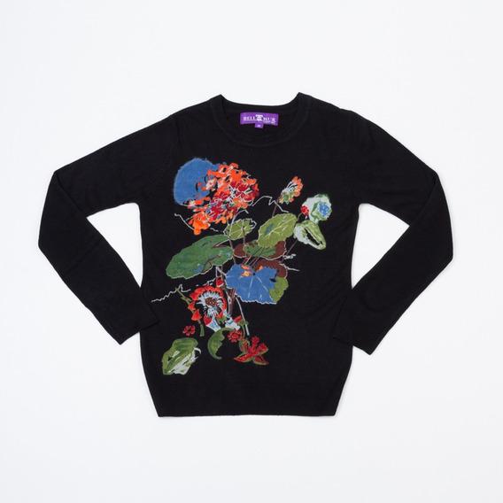 Sweater Estampado Negro Hsy-07/13 Tienda Oficial