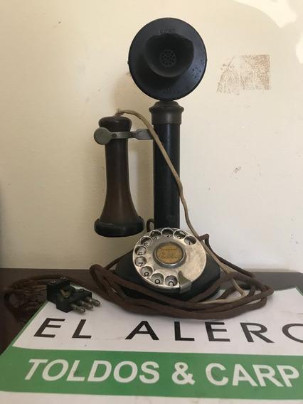 Telefono Antiguo De Mesa Original Completo Reliquia