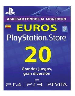 Psn Gift Card Playstation Store España Ps3 Ps4 20 Euros