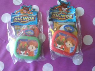 Digimon - Tira Tazos Con Blister Sin Abrir Lote X 2 Paq.