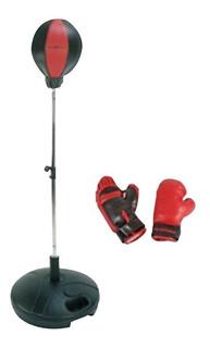Pera Para Boxeo Extensible 80-120 Cms Con Guantes De Boxeo