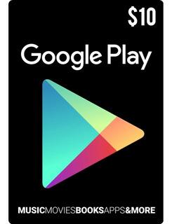 Tarjeta Google Play 10 Usd Usa   Mvd Store