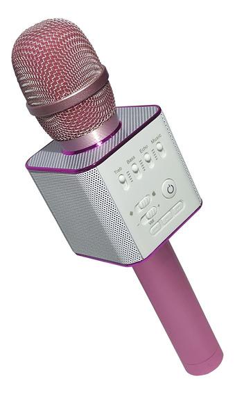 Microfono Karaoke Bluetooth Inalambrico Con Parlante Usb Var