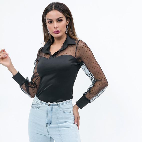 diseño unico mas fiable colores delicados Blusa Transparente Negra - Ropa, Calzados y Accesorios en ...