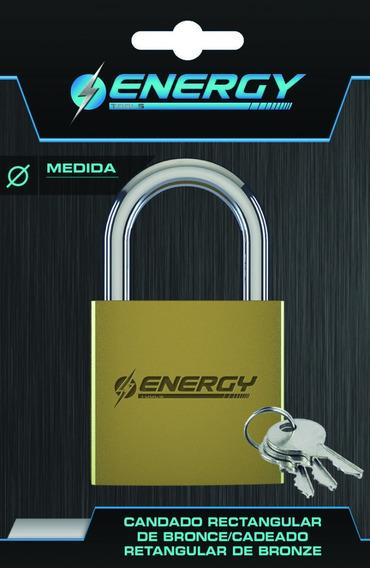 Candado Rectangular Energy - 50mm - Pl50 - Alta Seguridad