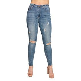 515a128389 Jeans Damas Slowly Azul Roto Jea-m-40 - Tienda Chaia