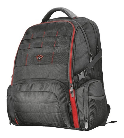 Mochila Trust Gxt1250 Gaming Gamer 17.3 5 Compartimientos