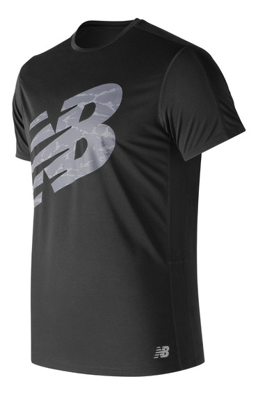 Remera New Balance Hombre Mt83174bk Printed Accelerate Ss