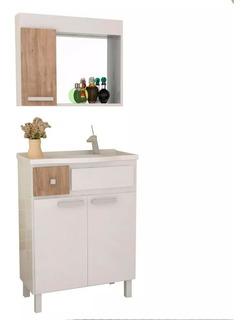 Muebles De Baño Con Bacha Y Botiquin Espejo
