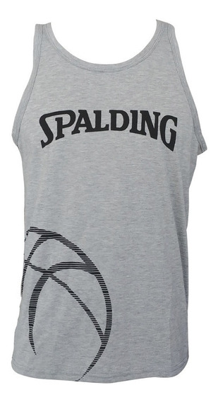 Musculosa Remera S/manga Spalding Basketball De Hombre