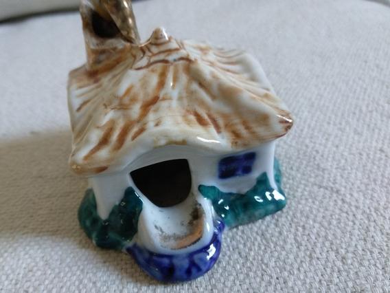 Cenicero Antiguo Casa Rancho Con Chimenea Ceramica
