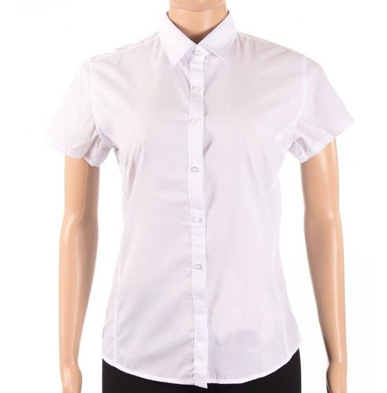 Camisa De Vestir Ejecutiva Dama Manga Corta - Mundo Trabajo