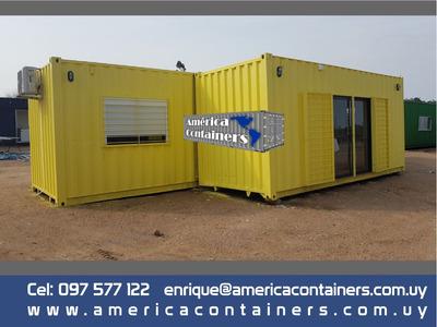 Contenedor 40+20 (45m2) - 2 Dormitorios,baño,cocina/comedor