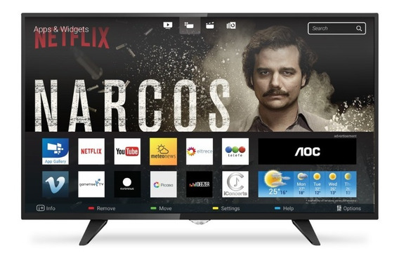 Smart Tv Aoc Led 32 Usb Hd Wifi Netflix Youtube - Netpc