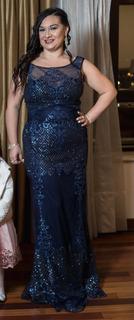 Vestido De Gala Elegante Para Madre De Quinceañera O Madrina