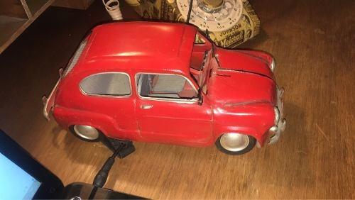 Fiat 600 Auto Antiguo Replica Chapa 30 Cm