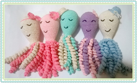 Pulpos De Apego Para Bebes Amigurumis Crochet