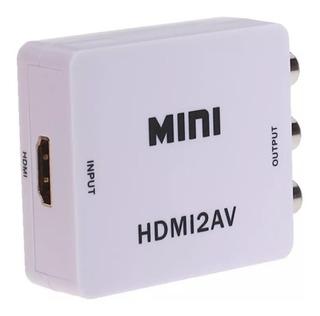 Conversor Adaptador Convertidor Hdmi A Av (rca) Audio Video®