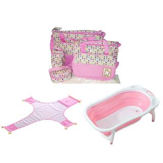Combo Baby Shower Bañera + Sujetador Bañera + Bolso Maternal