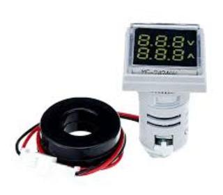 Voltímetro Y Amperímetro Industrial Tablero Arduino Azul
