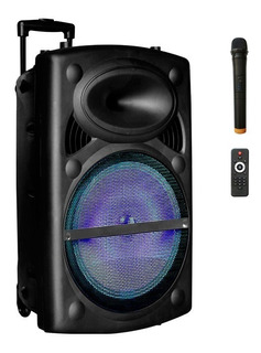 Parlante Activo Amplificado 15´ Batería Luz + Microfono