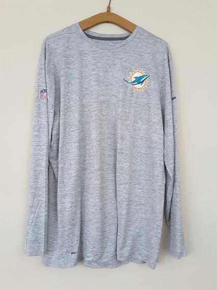 Remera Original Nike Nfl Miami Dolphins Drit Fit Xxl Hombre
