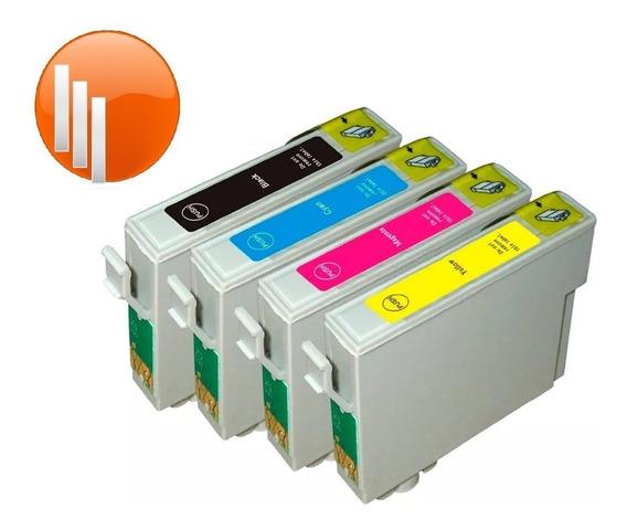 Combo 4 Cartuchos Compatibles Epson T25 Tx135 Tx125 Tx123