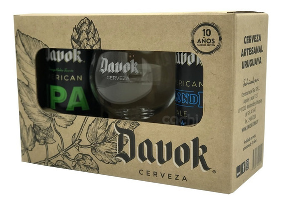 Cerveza Davok Pack X 2 Latas 500ml Mas Copa