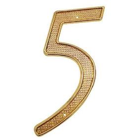 Nùmero 5 Para Puerta Dorado 4