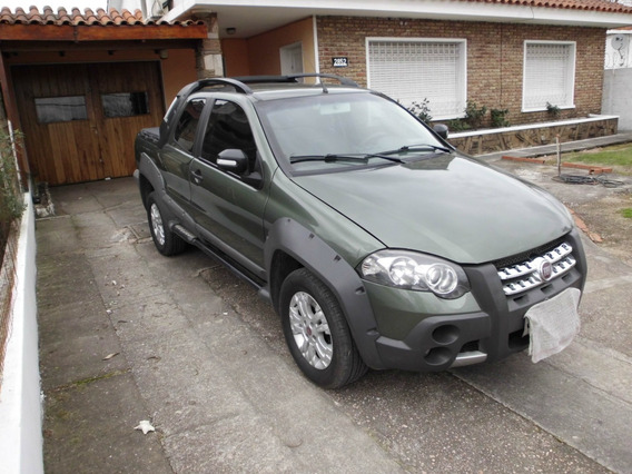 Fiat Strada Adventure Doble Cabina Verde Metal
