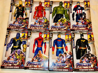 Muñeco Avengers Iron Man Thor Cap America Spider Man 30cm