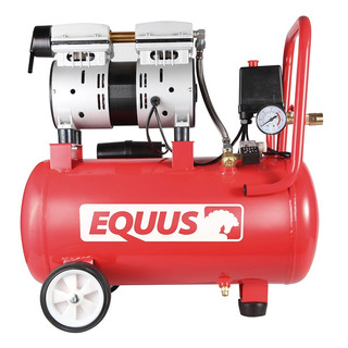 Compresor De Aire 1hp 24 Litros Sin Aceite Premium Equus